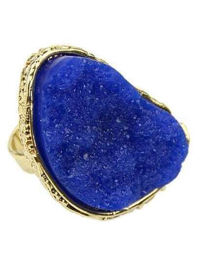 Hot-sale Individual Crystal Blue Ring