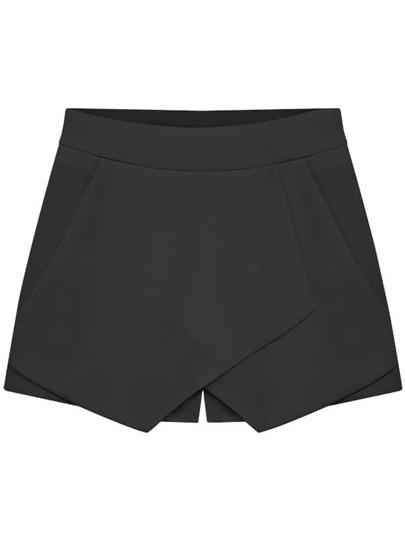 Black Slim Casual Skirt Shorts