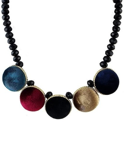 Multicolor Round Bead Necklace