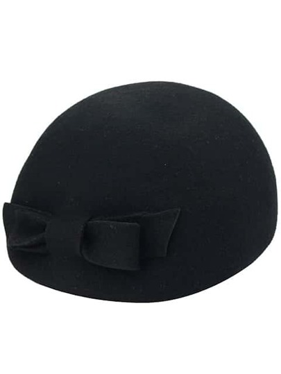 Black Fashion Bow Berets