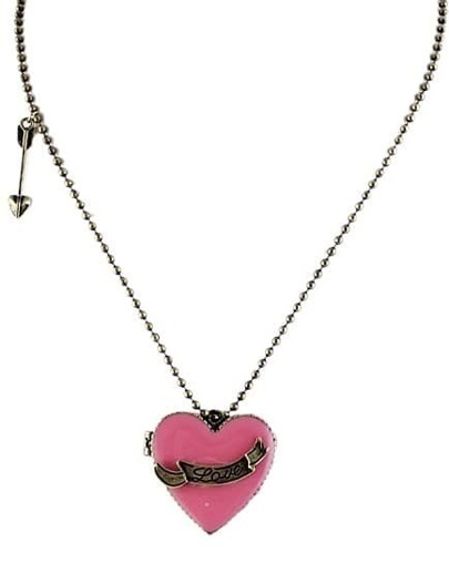 Rose Red Box Heart Crystal Openable Rhinestone Designs Pendant Necklace