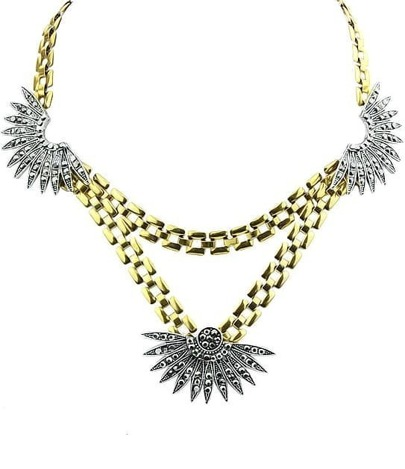 Gold Flower Double Necklace