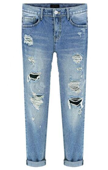 Pantalón bleach rotos-azul