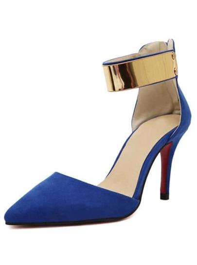 Zapatos con tacón alto cremallera-azul