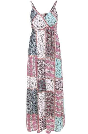 Multicolor Spaghetti Strap Cashews Print Maxi Dress