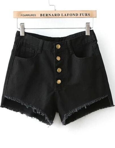 short denim botones-negro