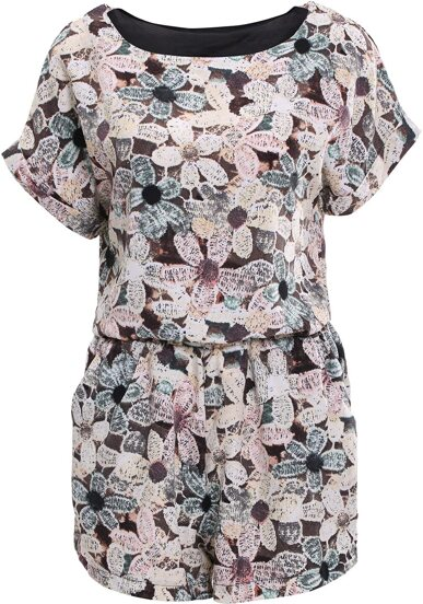 Top floral avec Shorts -brun