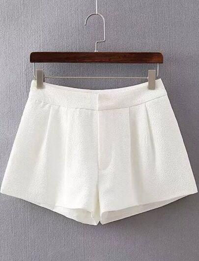 Shorts ancho bolsillos-blanco