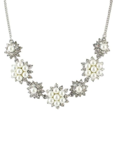 Silver Plated Pearl Necklace