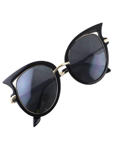 lunettes style 2015 forme de chat -Noir