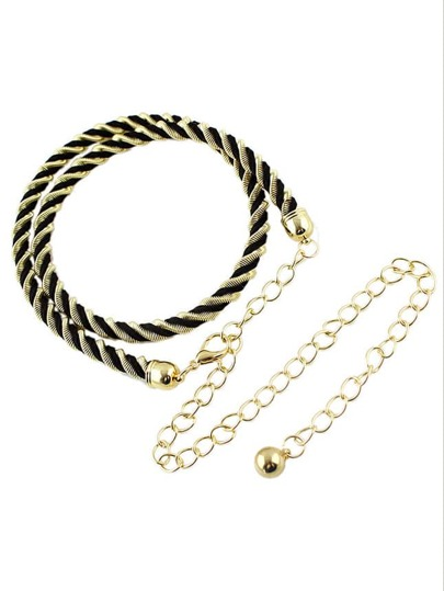 Fashion Style Alloy Thin And Long Women Dressy Waist Belt