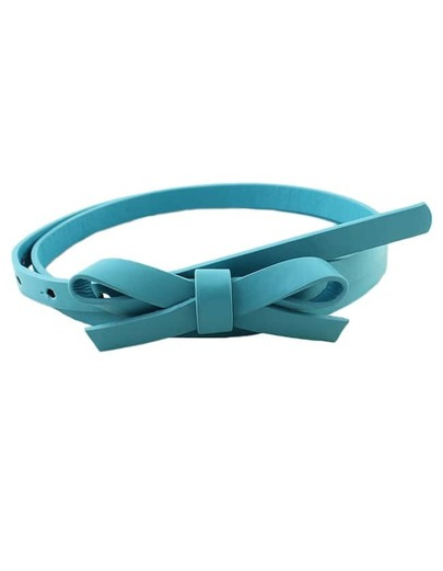 Blue Pu Leather Thin Candy Belt