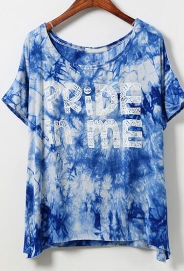 Camiseta manga corta PRIDE IN ME -azul