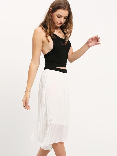 Color-block Shutter Cut Out Asymmetrical Dress