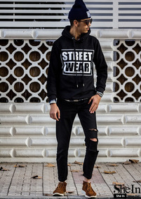 Black Letter Printed Sweatshirt