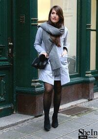 Grey Pockets Dress