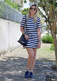 Black White Strips Dress