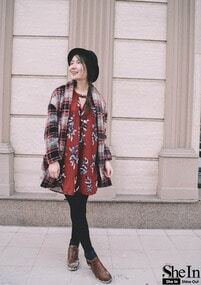 Red Wine Floral Dress