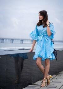 half sleeve dress