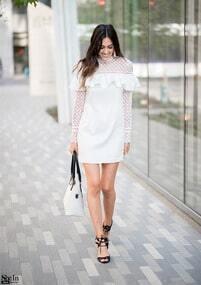 Mesh Shoulder Dress