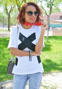 Contrast Strap Tee