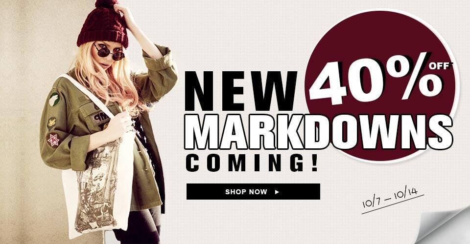 New markdowns coming151007