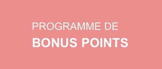 PROGRAMME DE BONUS POINTS
