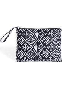 Black White Geometric Print Clutches Bag