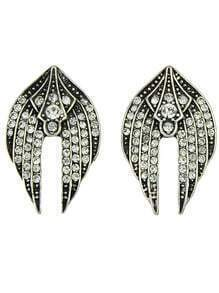 Fashion Vintage Style Flying Swallow Shaped Small Stud Earrings