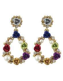 Latest Design Colorful Women Flower Shaped Drop Earrings