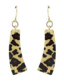 New Model Resin Leopard Women Long Drop Earrings