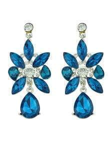 Elegant Blue Stones Women Hanging New Model Earrings
