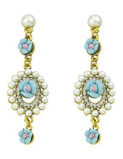 Hanging Resin Pearl Earrings