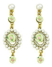 2015 New Model Mixed Color Hanging Resin Fake Latest Design Of Pearl Earrings