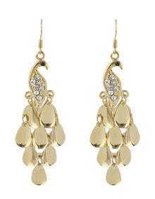 Latest Design Leaf Shape Women Long Hanging Drop Earrings