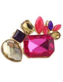 Best Seller Colored Stone Big Women Clip-on Earring