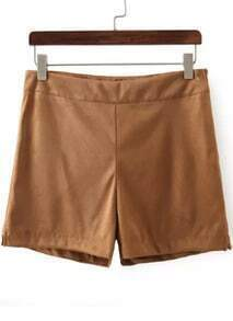Khaki Loose Straight Shorts