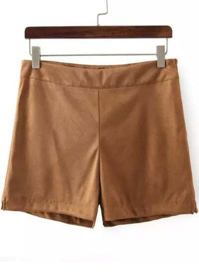 Khaki Loose Straight Shorts