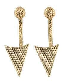 Hot Sale Gold And Silver Plated Hanging Stud Triangle Earrings
