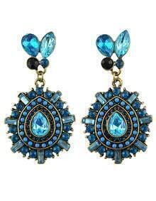 New Model Elegant Hanging Drop Beautiful Rhinestone Earrings