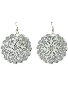 New Coming Mixed Color Flower Shaped Women Big Earrings
