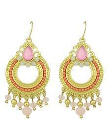 Popular Bohemian Style Beads Hanging Chandelier Earrings