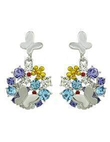 Popular Style Colorful Gemstone Women Haning Earrings