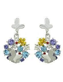 Popular Style Colorful Gemstone Women Haning Earrings
