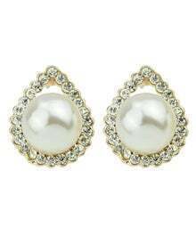 New Fashion Jewelry Small Stud White Imitation Pearl Earrings