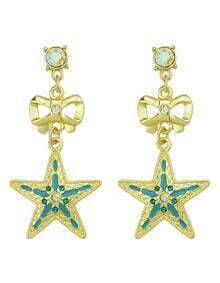 New Fashion Jewelry Hanging Rhinestone Star Earrings