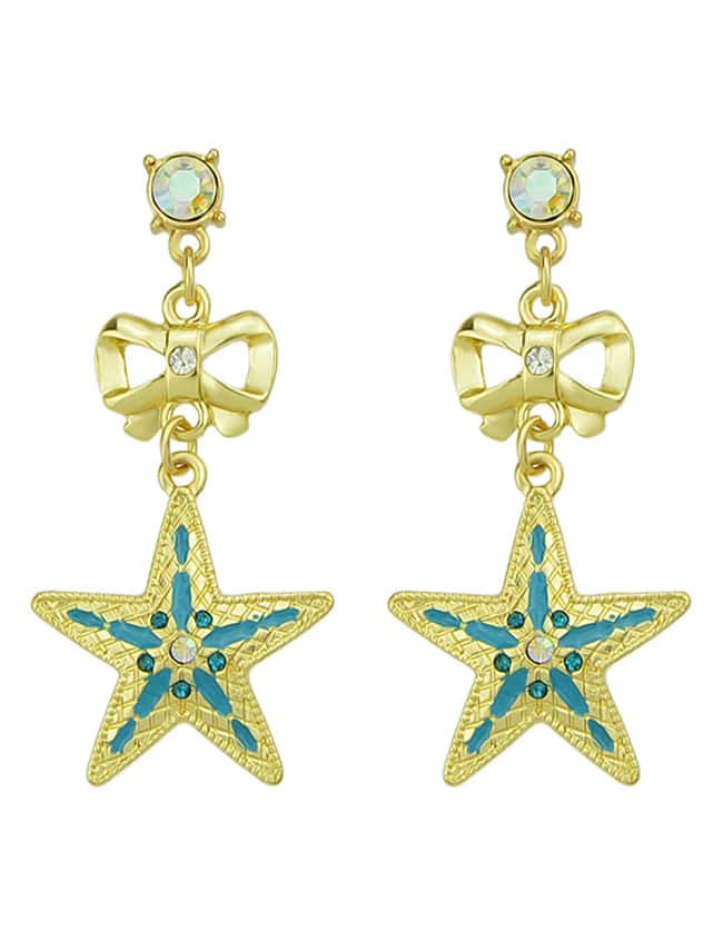 New Fashion Jewelry Hanging Rhinestone Star Earrings