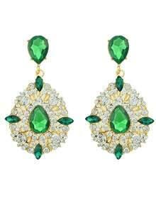 Colored Rhinestone Earrings For Women