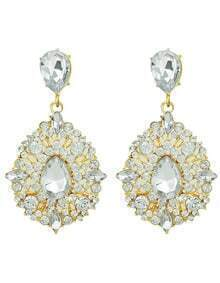 Hot Sale Elegant Style Colored Rhinestone Earrings For Women