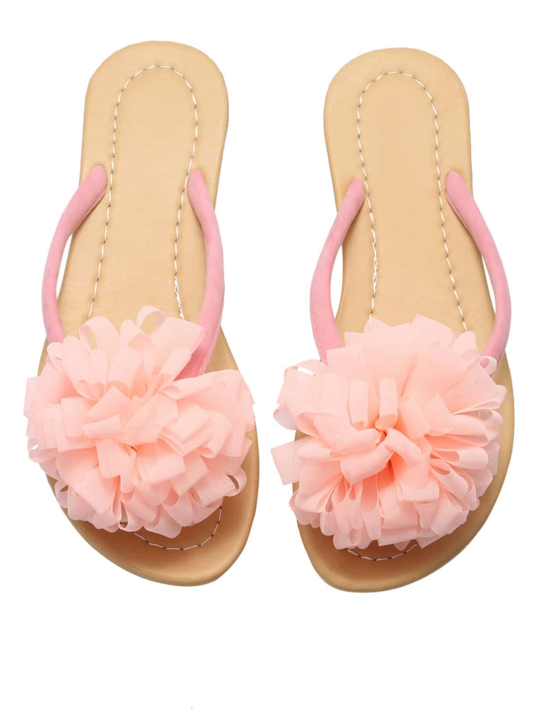 sandalen mit blumen besetzt rosa german shein sheinside. Black Bedroom Furniture Sets. Home Design Ideas
